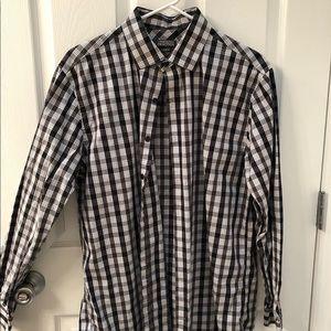 Slim fit Plaid Dress Shirt 16.5 34/35